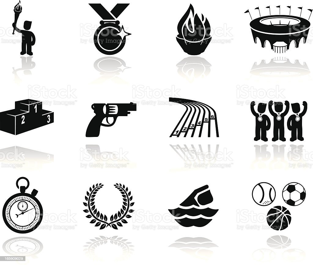 Summer Sports Icons vector art illustration