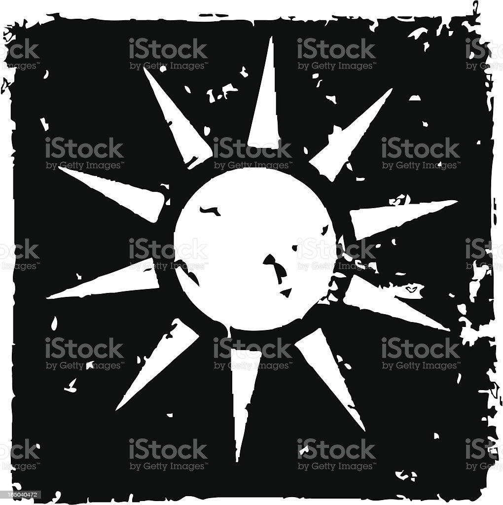 Summer sun vector art illustration