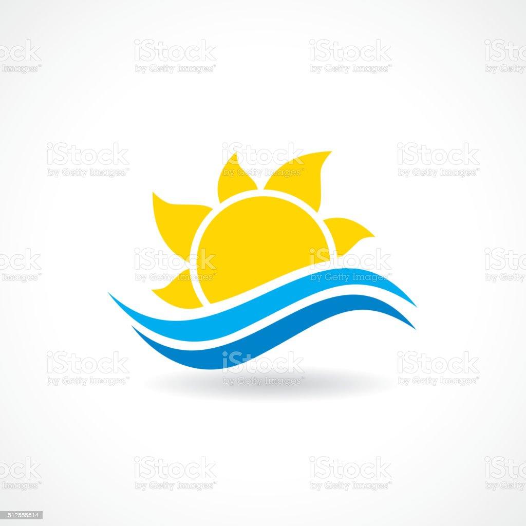 summer sun wave vector vector art illustration