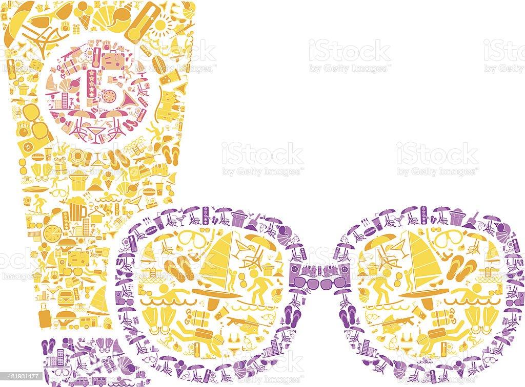 Summer Sunglasses vector art illustration