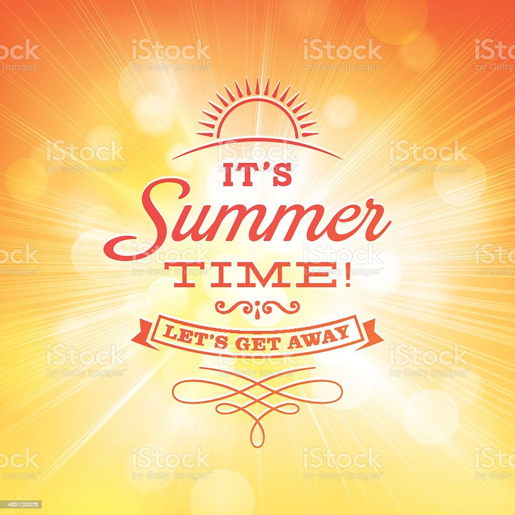 Summer Sunlight Burst Background vector art illustration