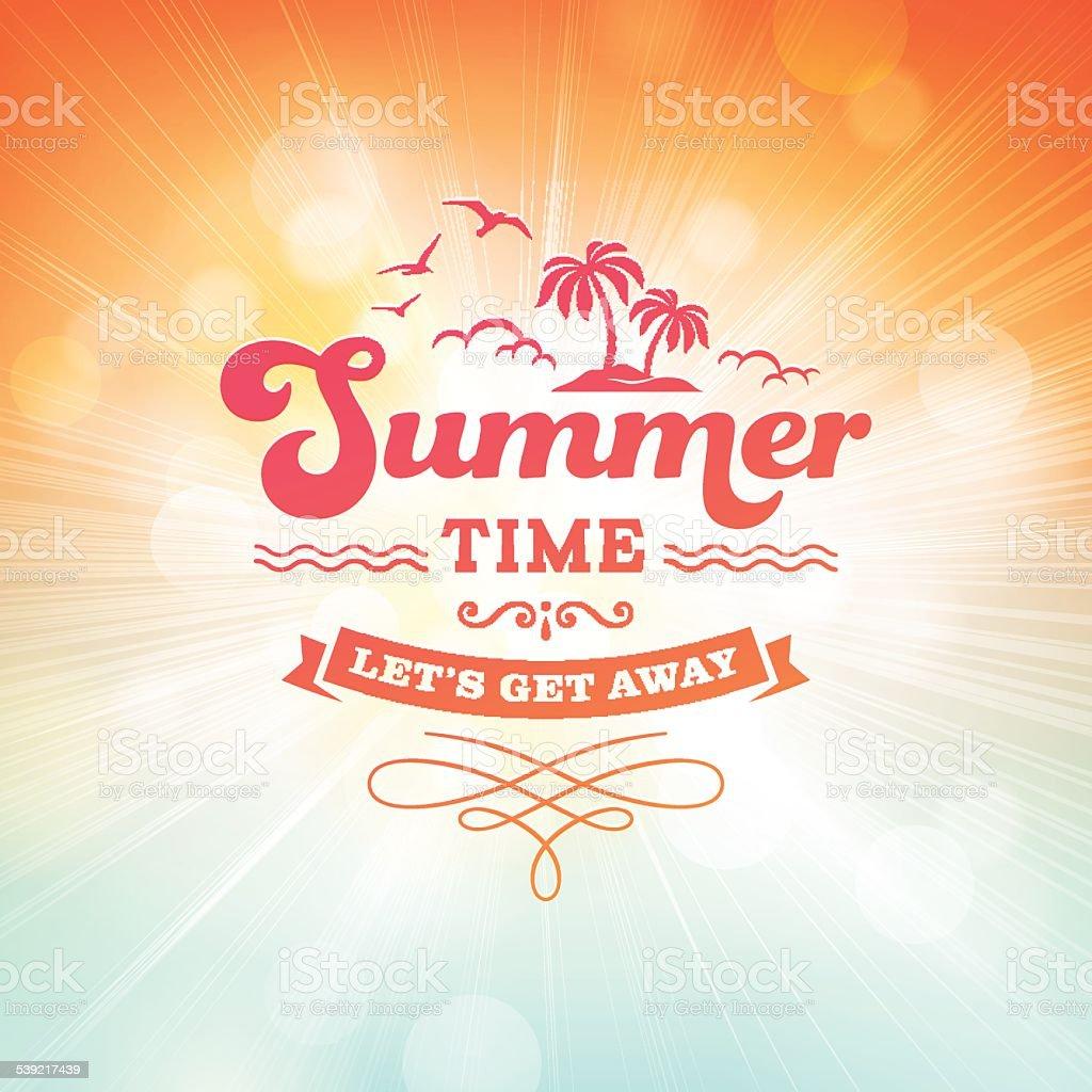 Summer Sunlight Burst Background vector art illustration