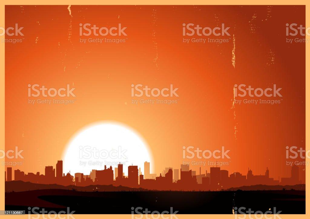 Summer Sunrise City royalty-free stock vector art