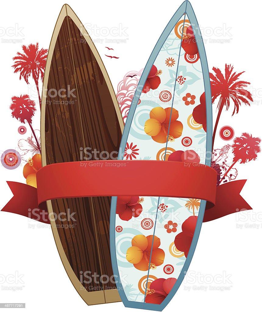 Summer surf design royalty-free stock vector art