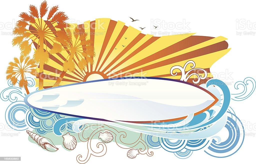Summer Surfing royalty-free stock vector art