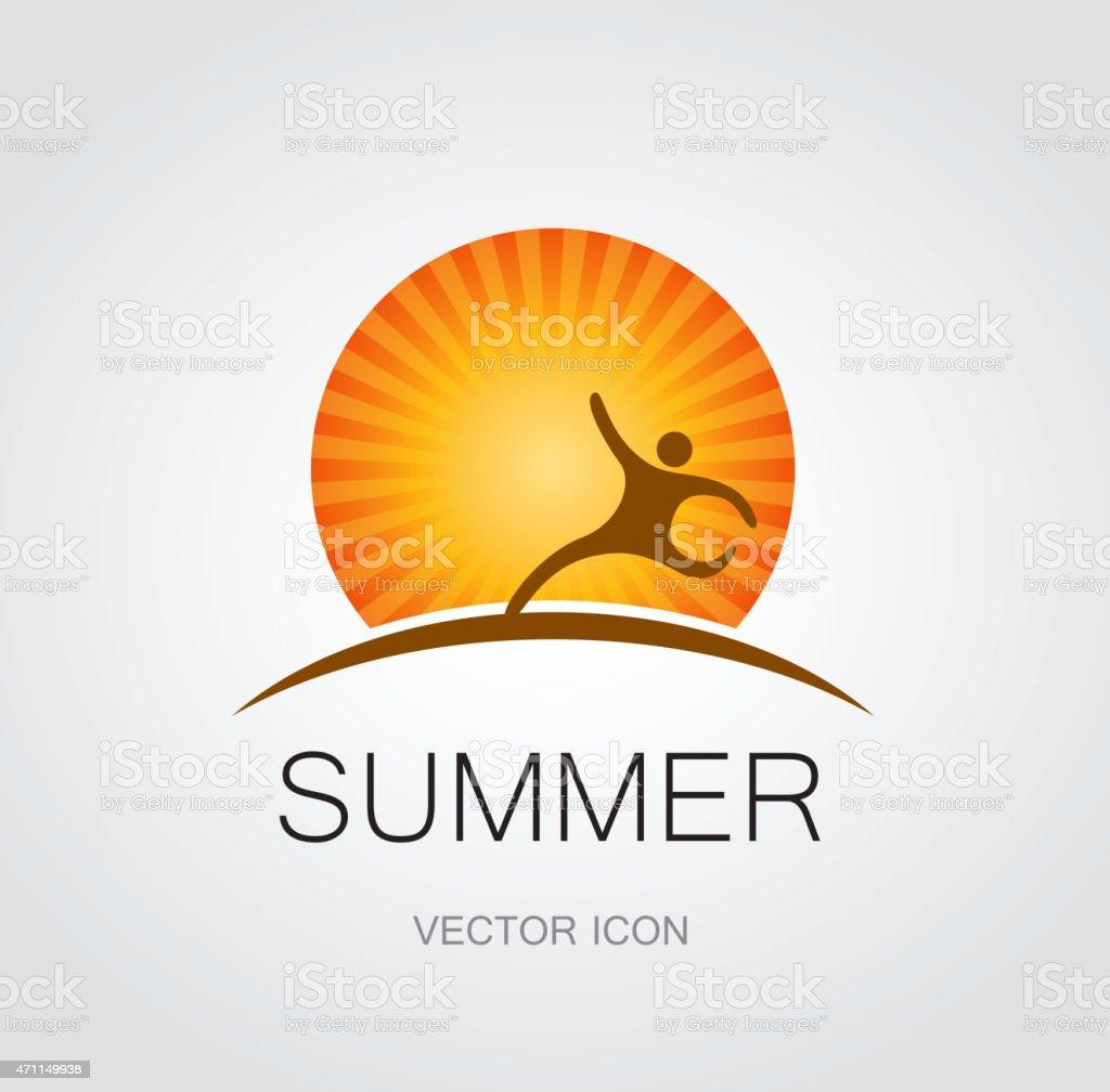 Summer symbol vector art illustration