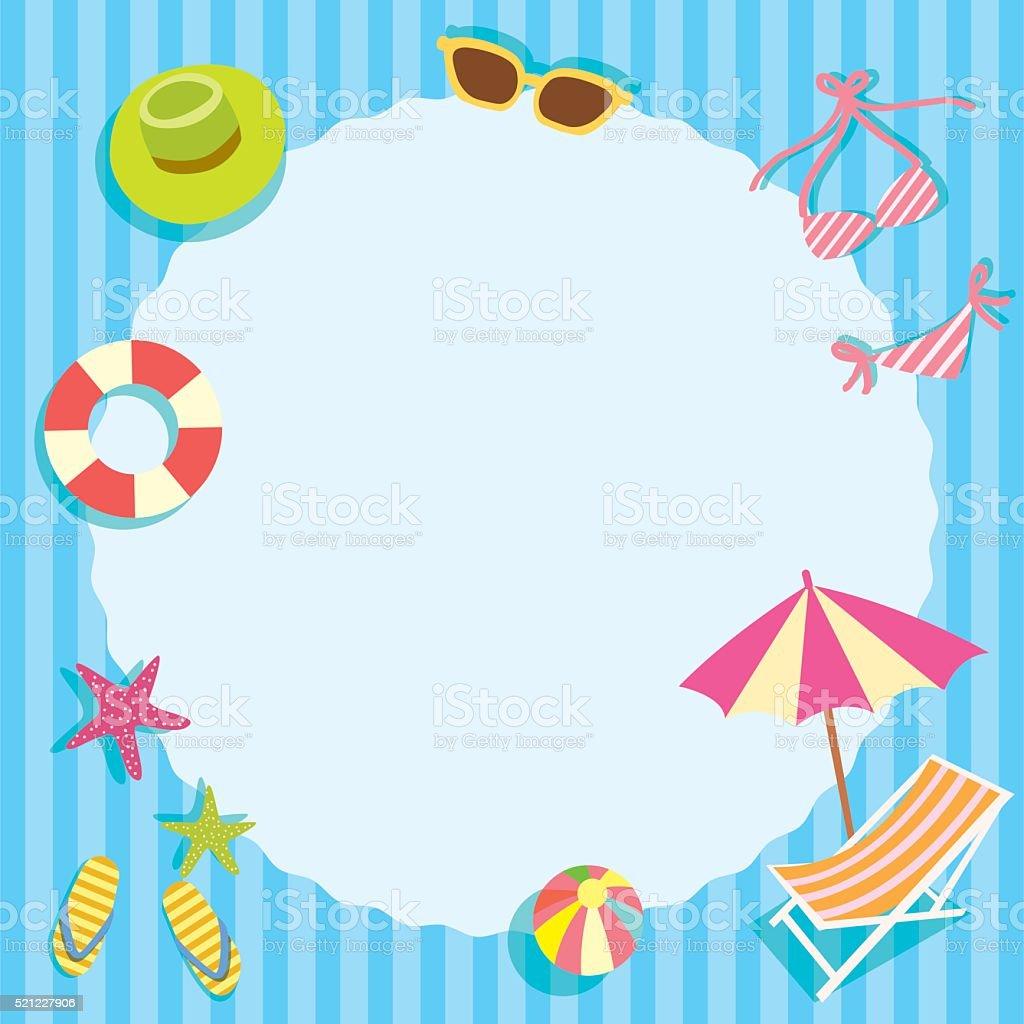 summer template vector art illustration