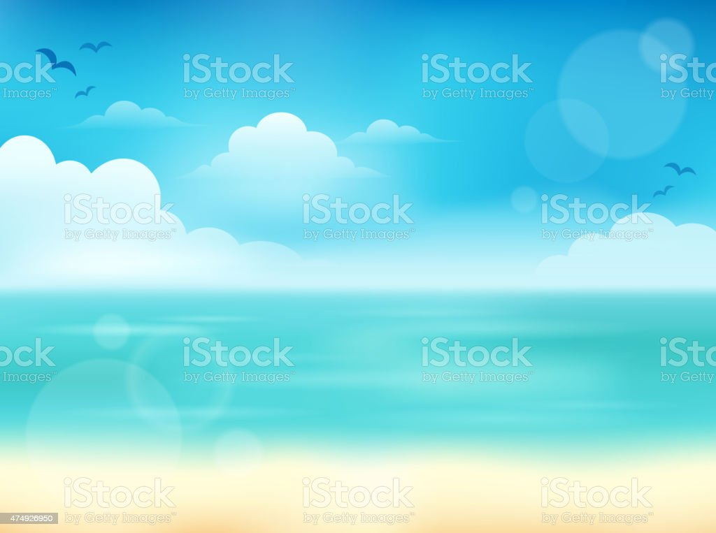 Summer theme abstract background 2 vector art illustration