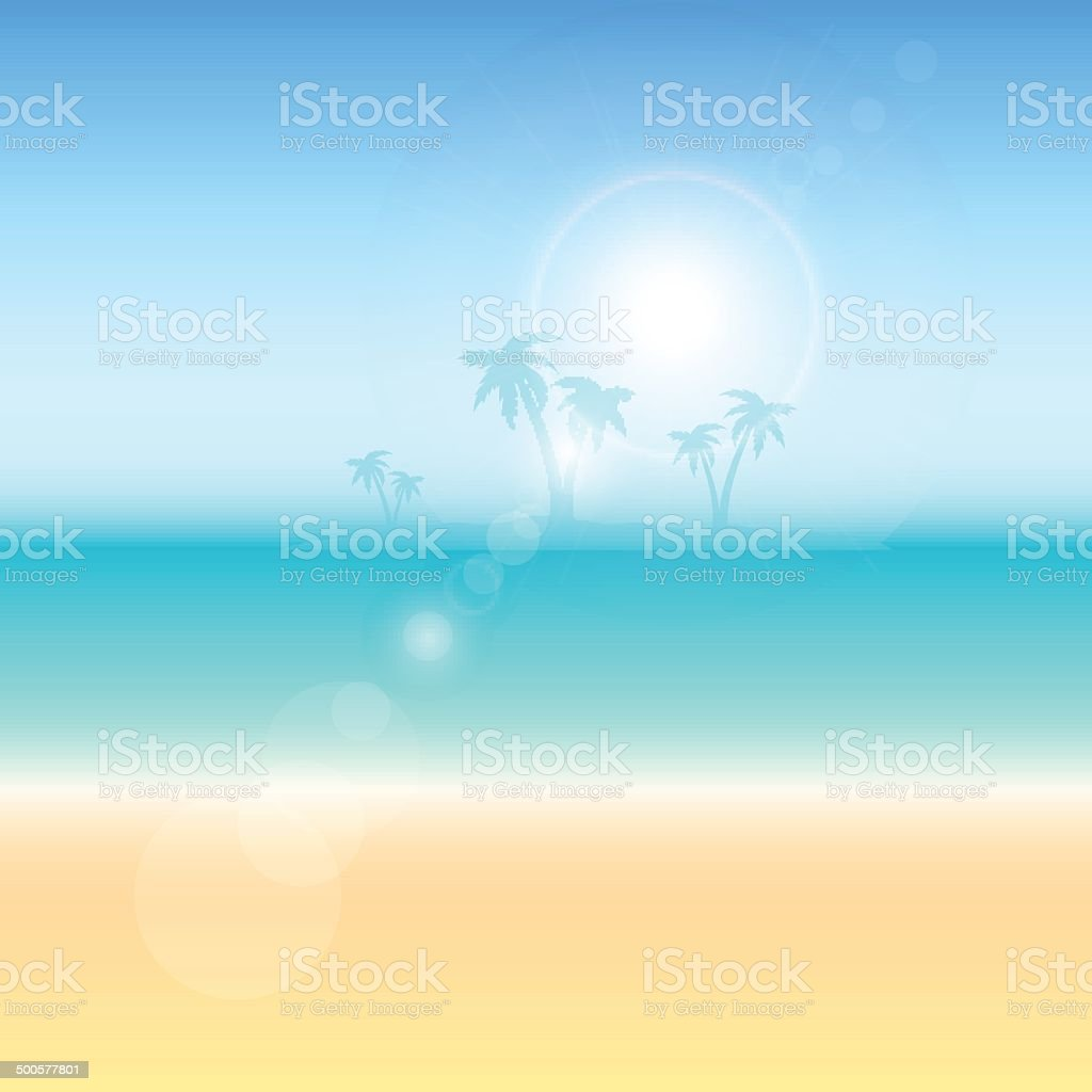 Summer themed background vector art illustration