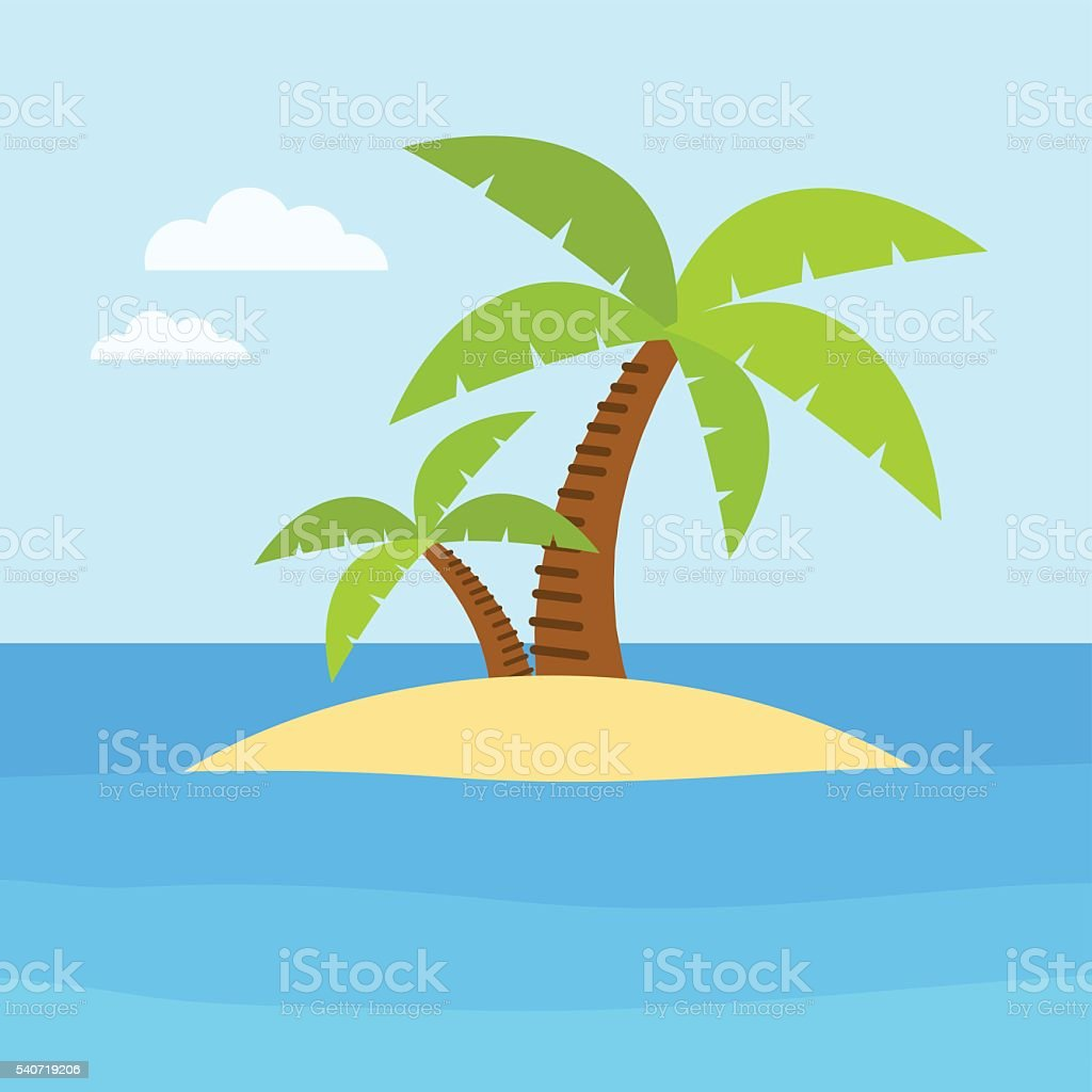 Summer time and beach vector art illustration