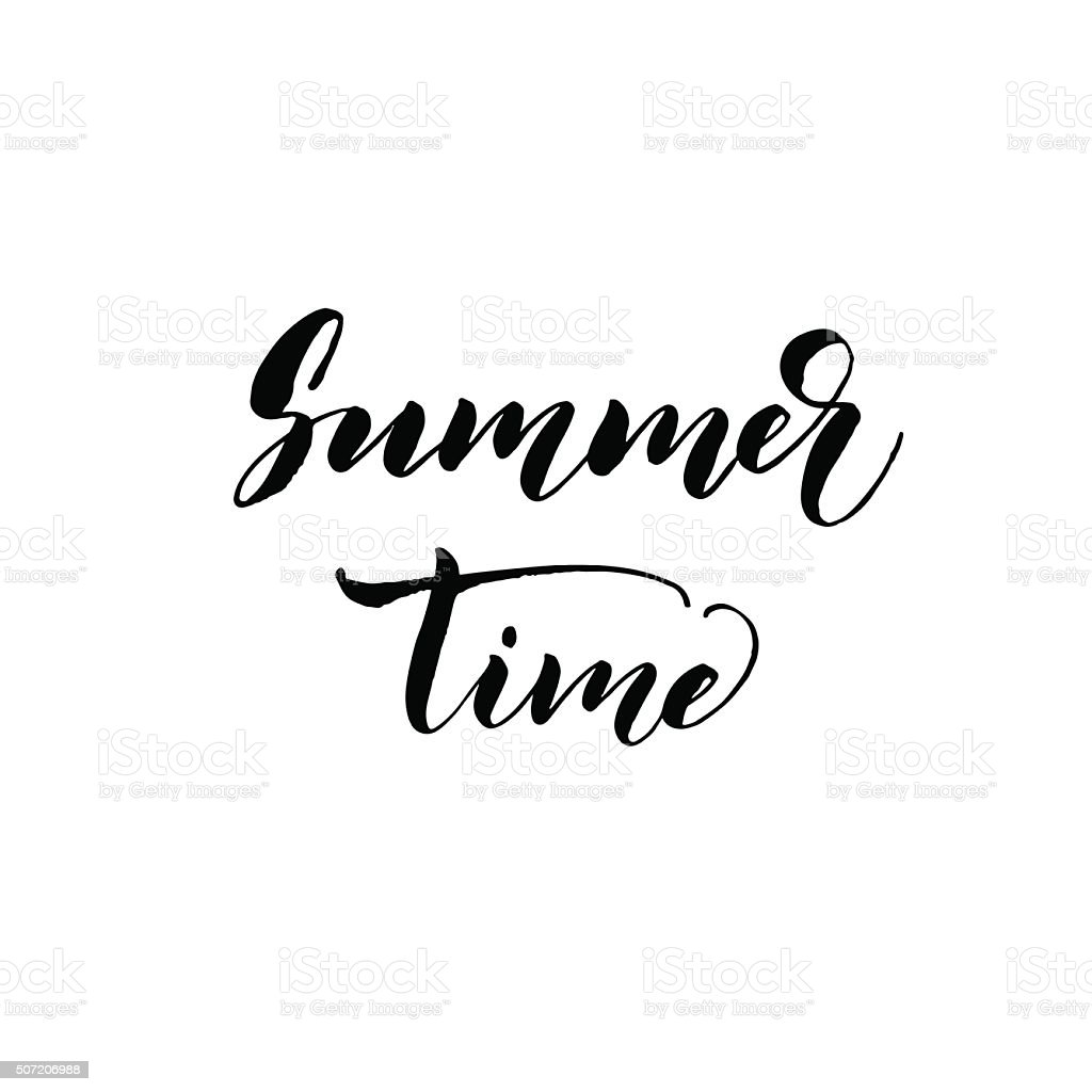 Summer time card. vector art illustration
