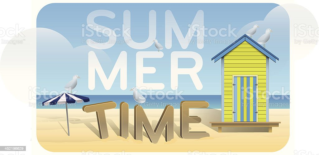 Summer time day royalty-free stock vector art