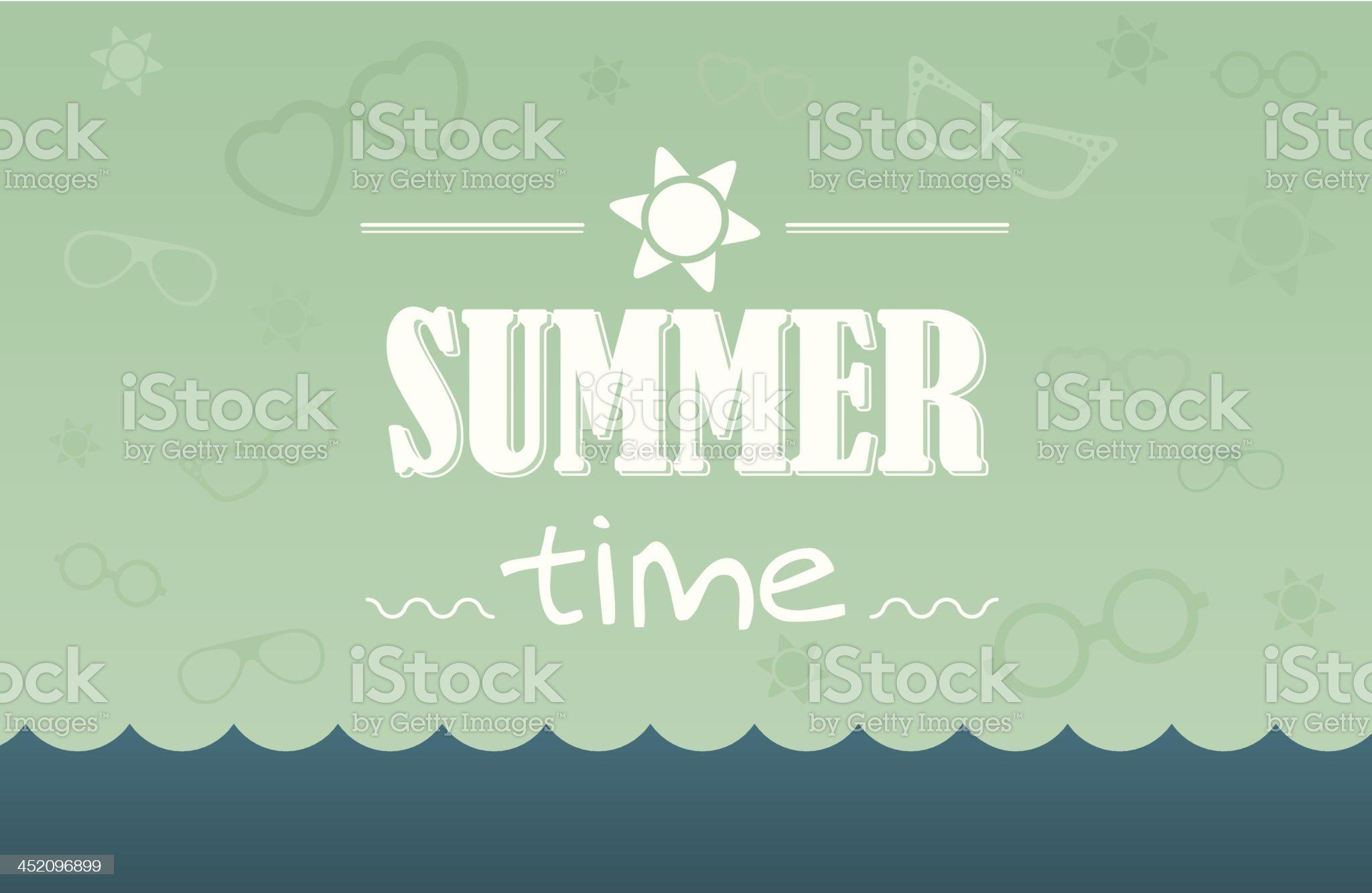 summer time postcard royalty-free stock vector art