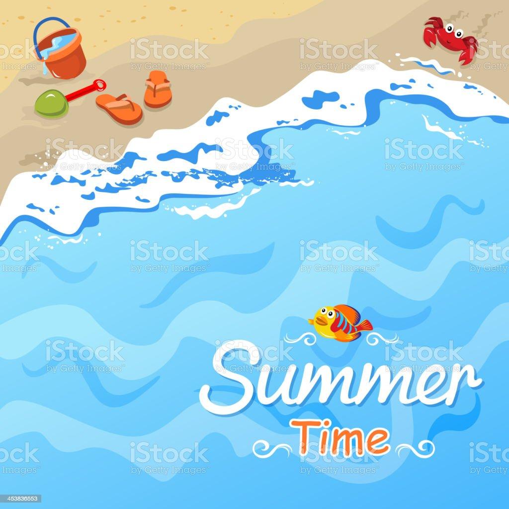 Summer Time vector art illustration