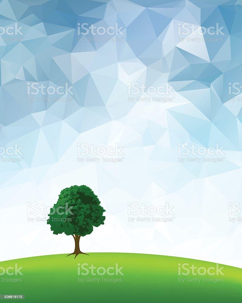 Summer Tree vector art illustration