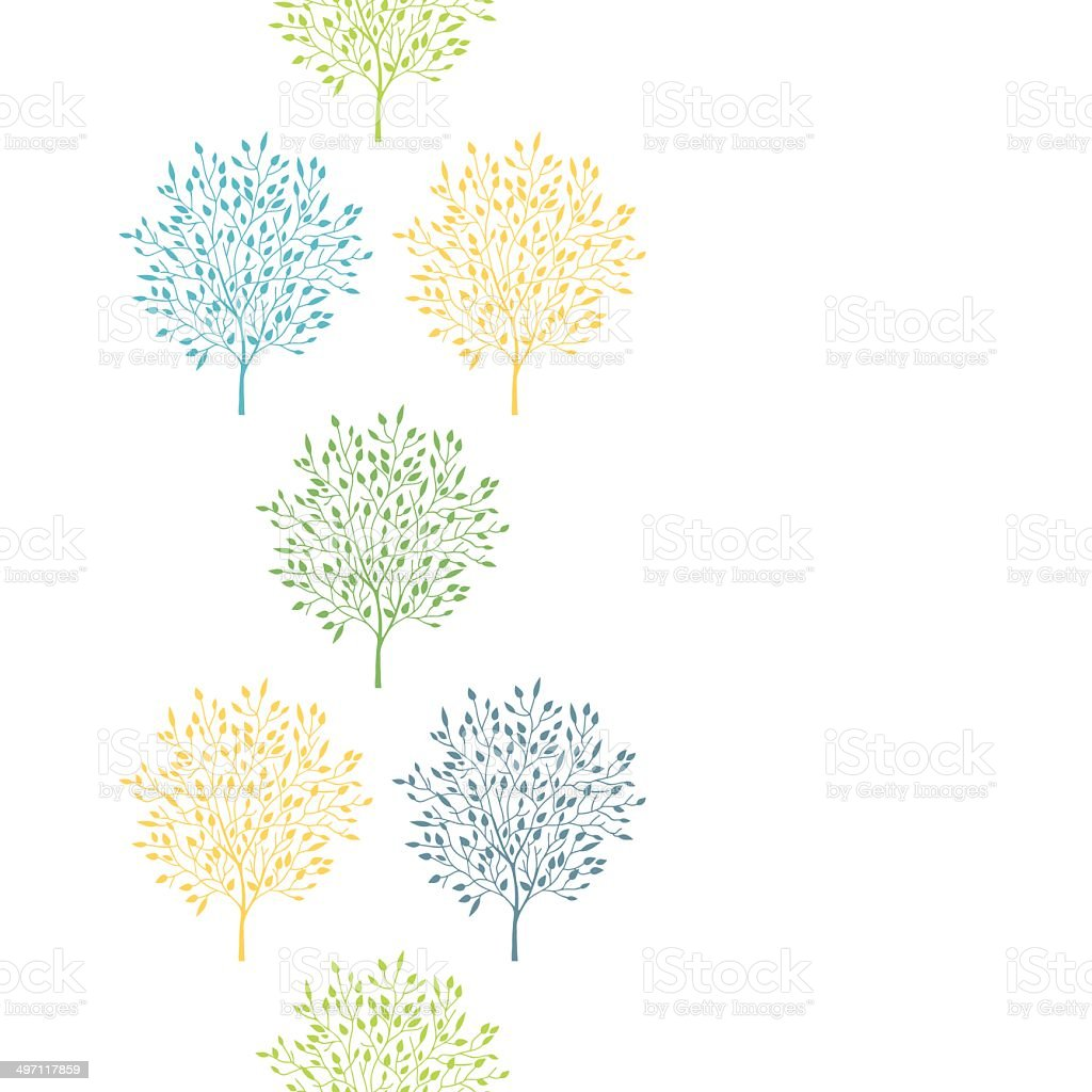 Summer trees colorful vertical seamless pattern background royalty-free stock vector art