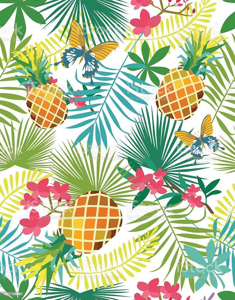 Summer tropic vector art illustration