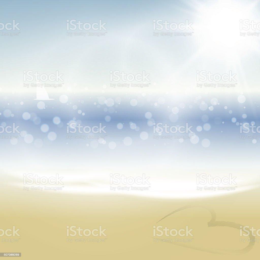 Summer Tropical Beach Background royalty-free stock vector art