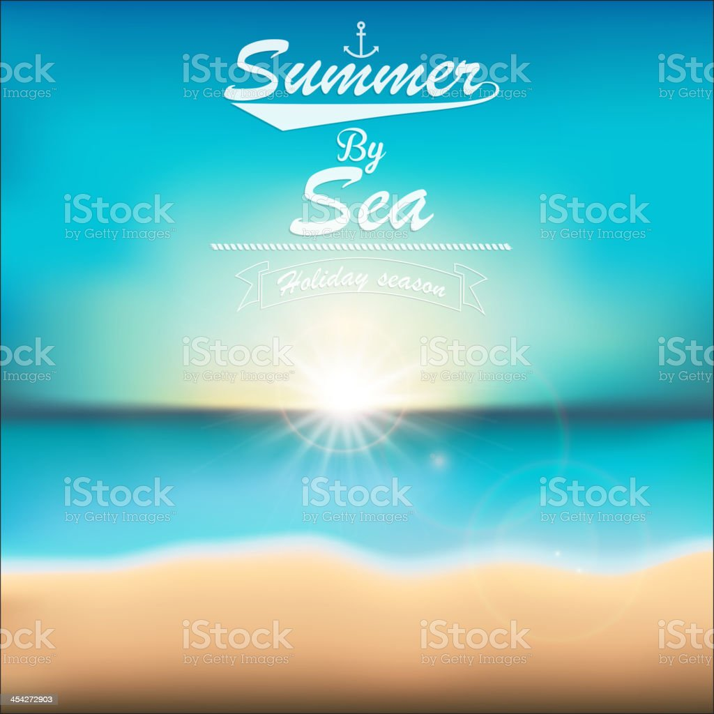 Summer tropical poster. Vector royalty-free stock vector art