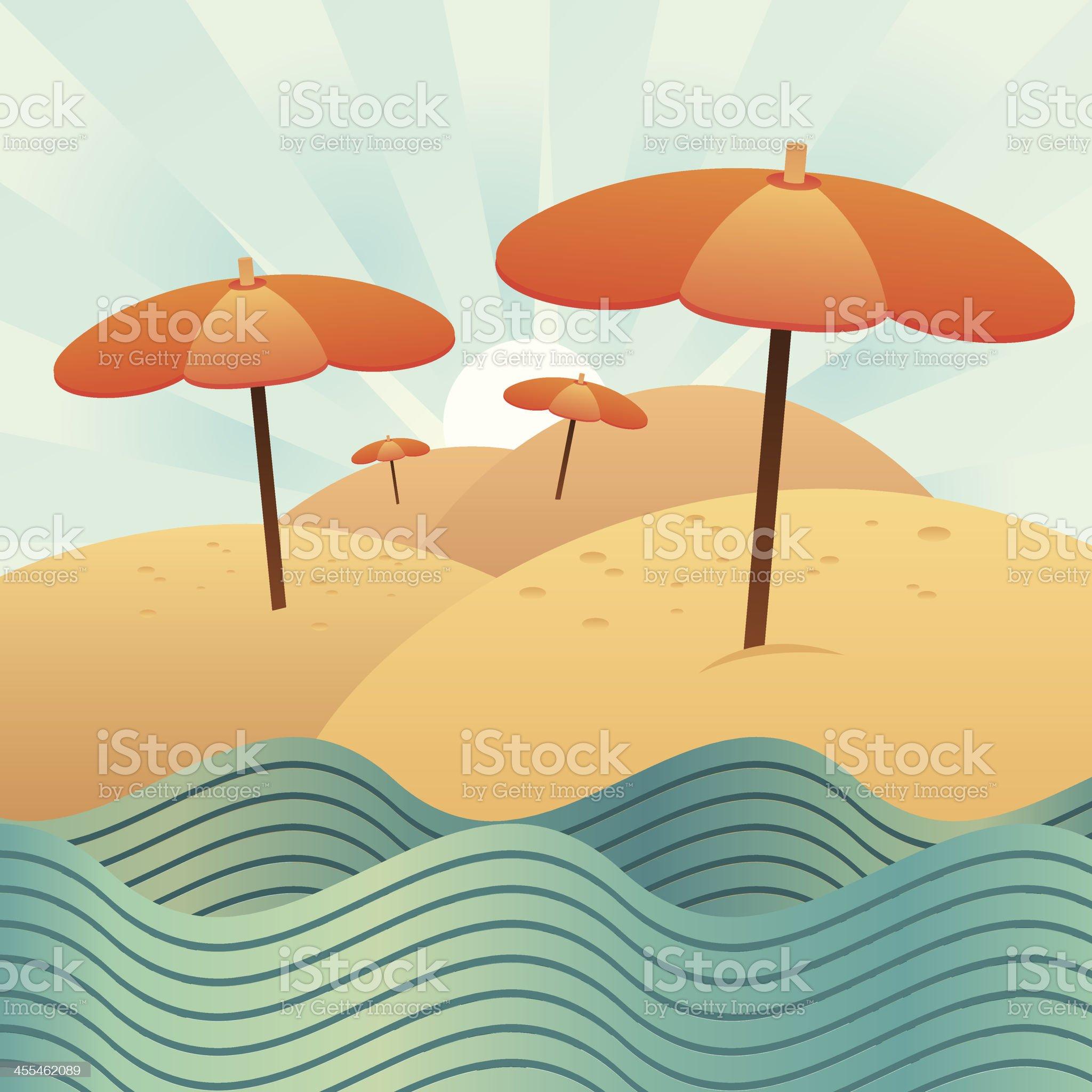 Summer Umbrellas royalty-free stock vector art
