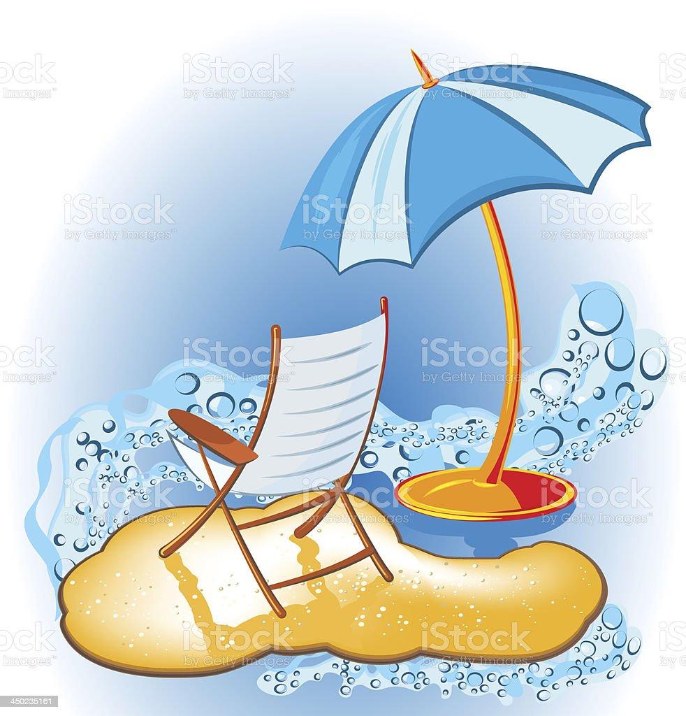Summer vacation holiday decorative background vector art illustration