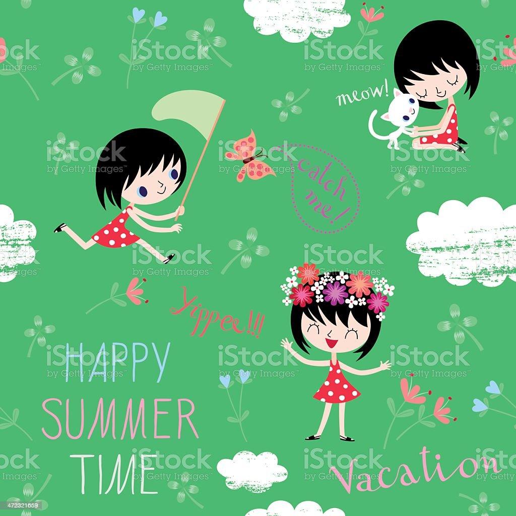 Summer Vacation Pattern. royalty-free stock vector art