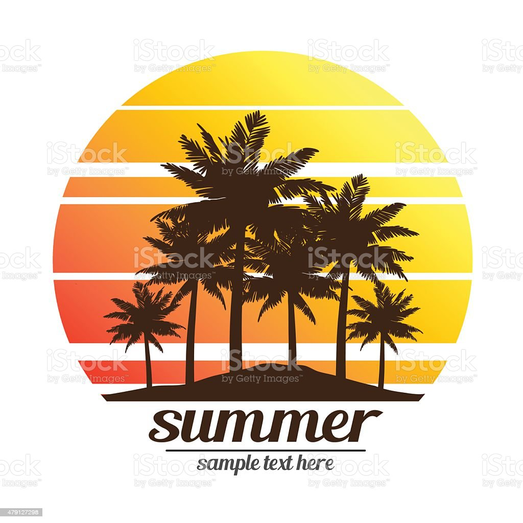 summer vacation vector art illustration