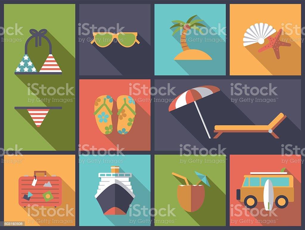Summer vacations vector illustration vector art illustration