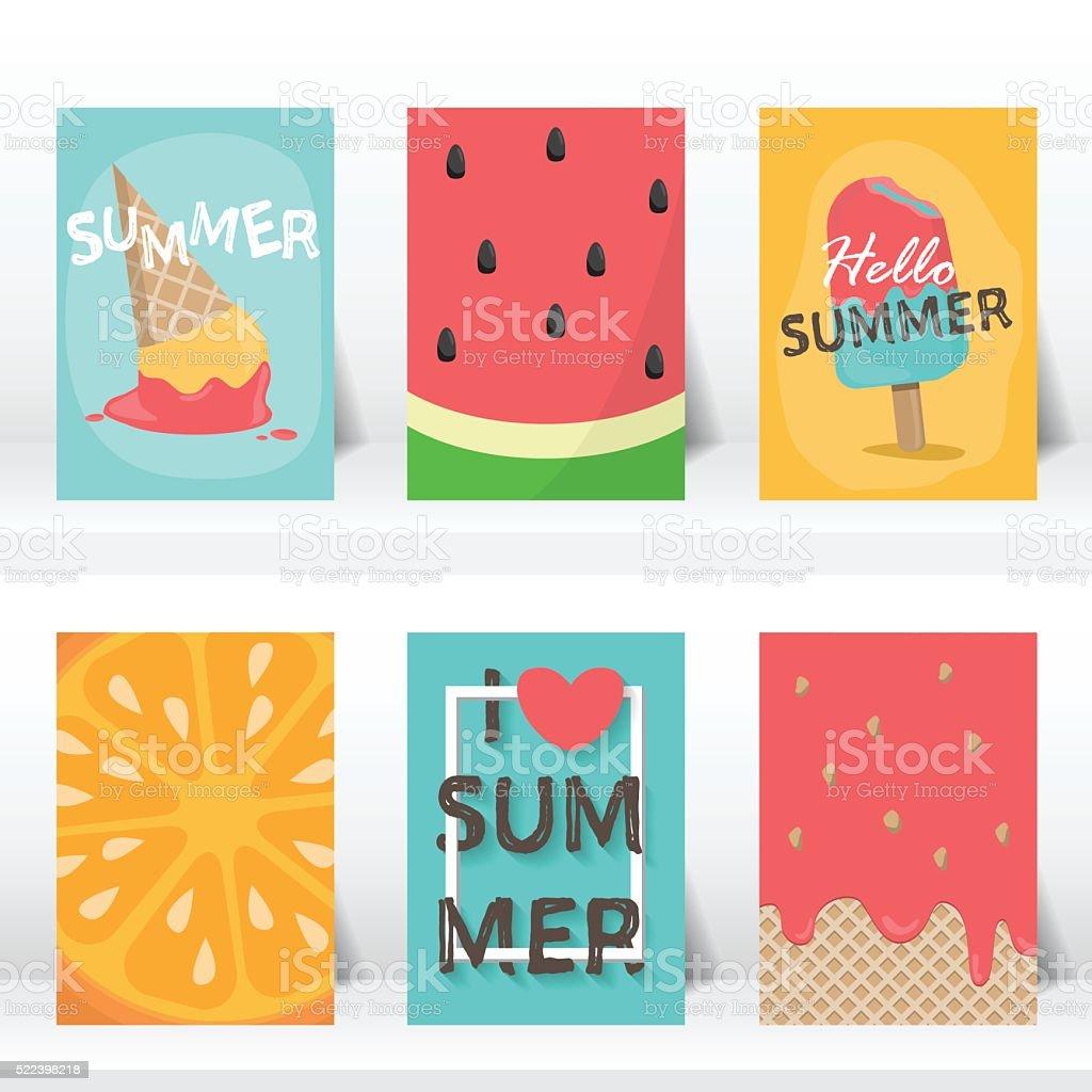 summer vaction time background. vector vector art illustration