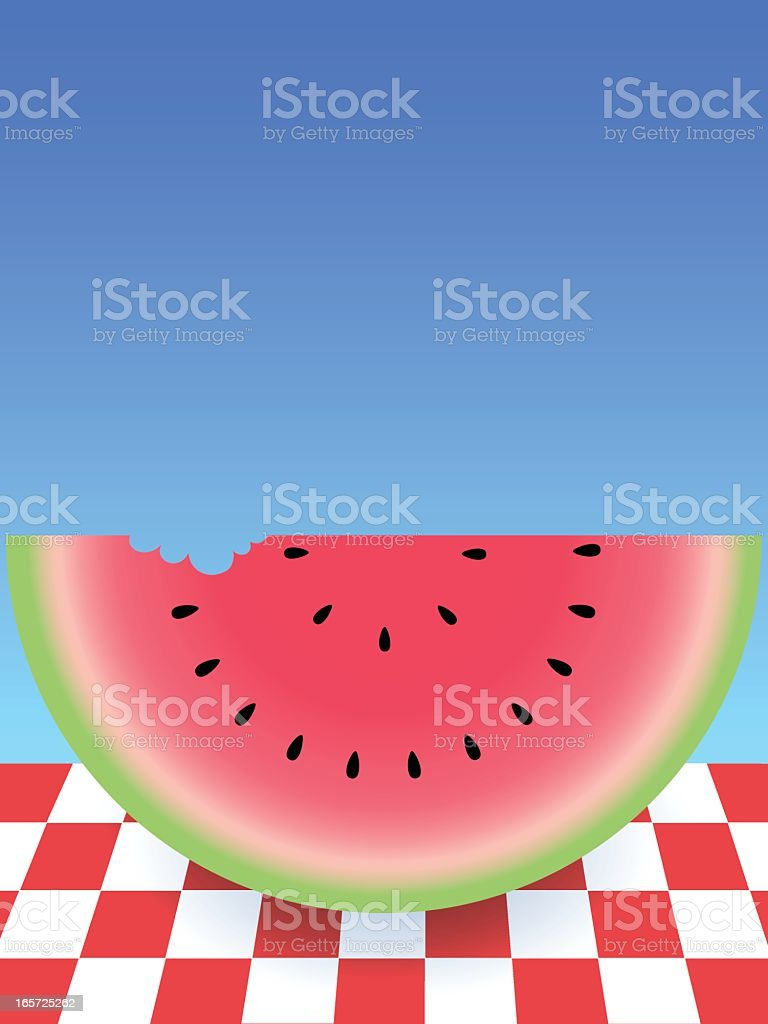 Summer Watermelon royalty-free stock vector art