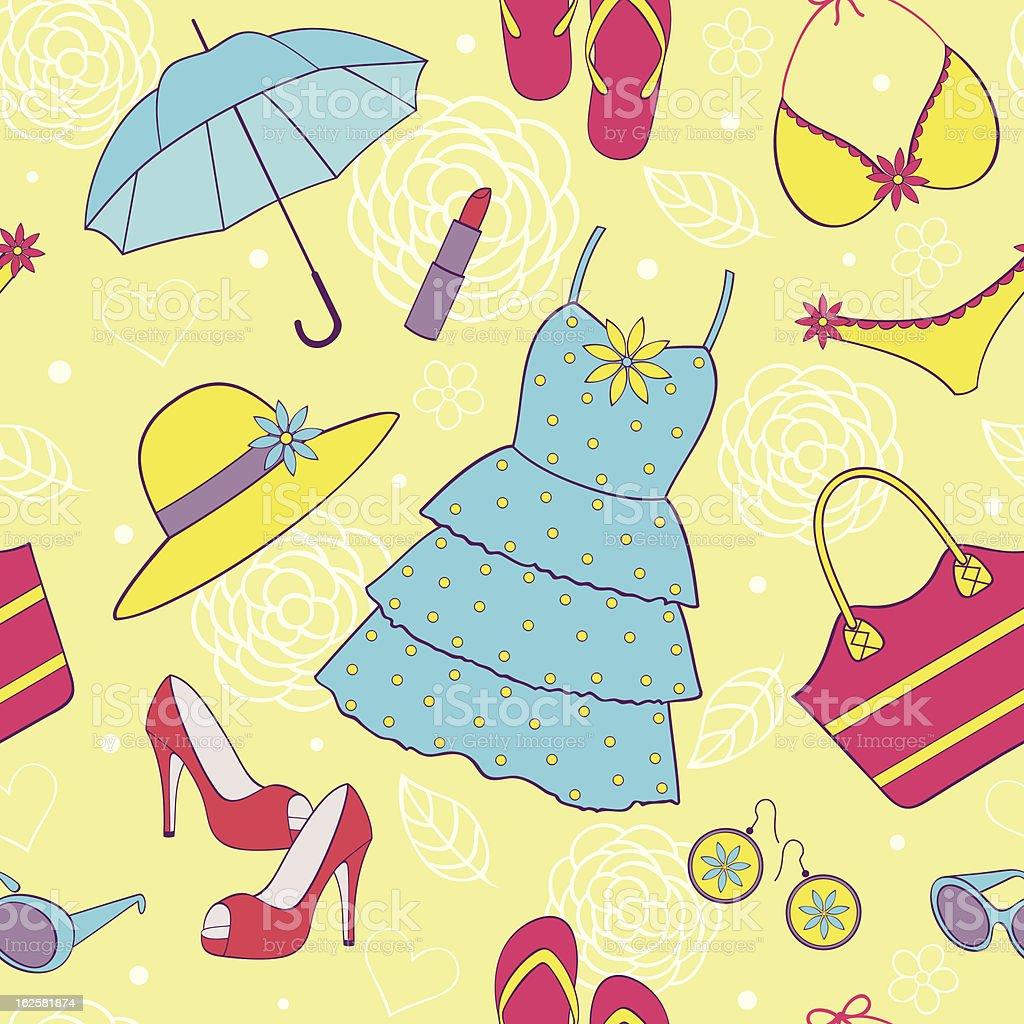 summer women's clothing royalty-free stock vector art