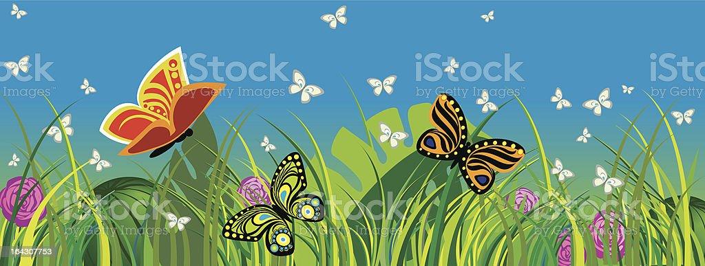 Summer_Fly vector art illustration
