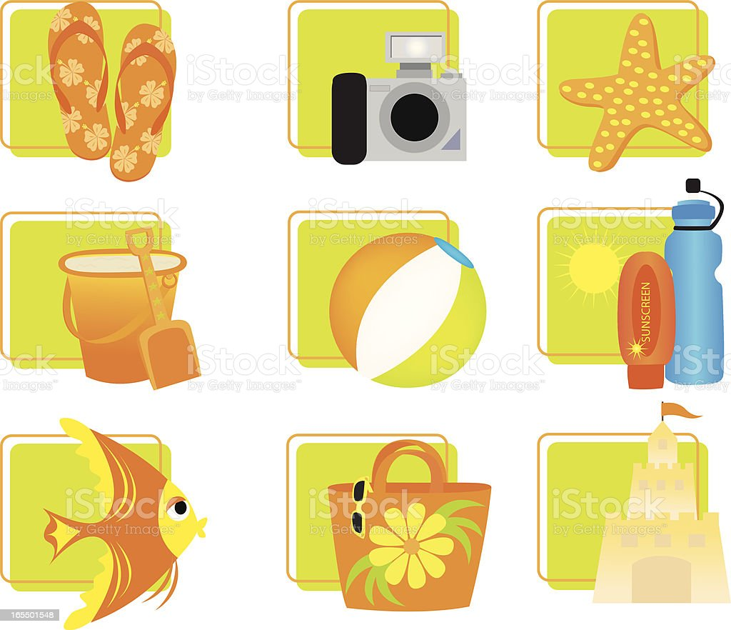 Summer/Beach Icons royalty-free stock vector art