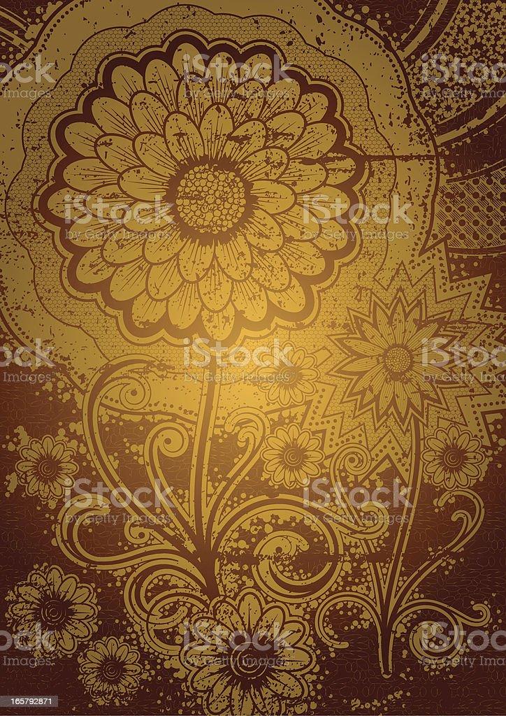 Summerflowers vector art illustration