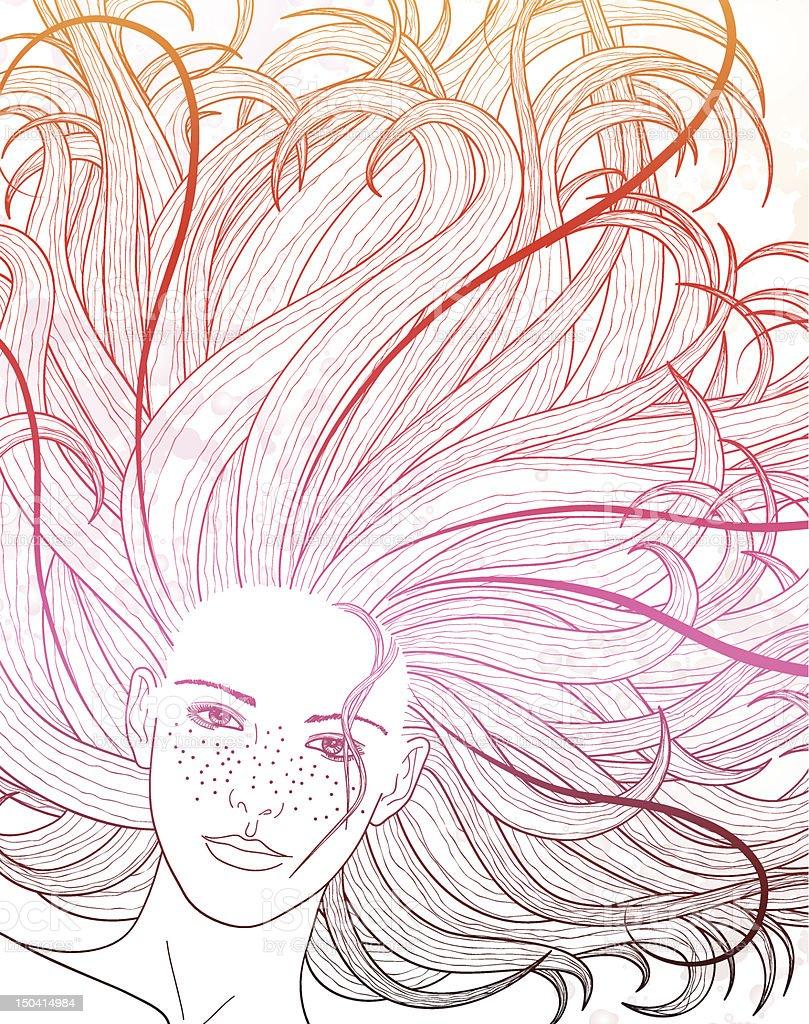 Summerhair vector art illustration