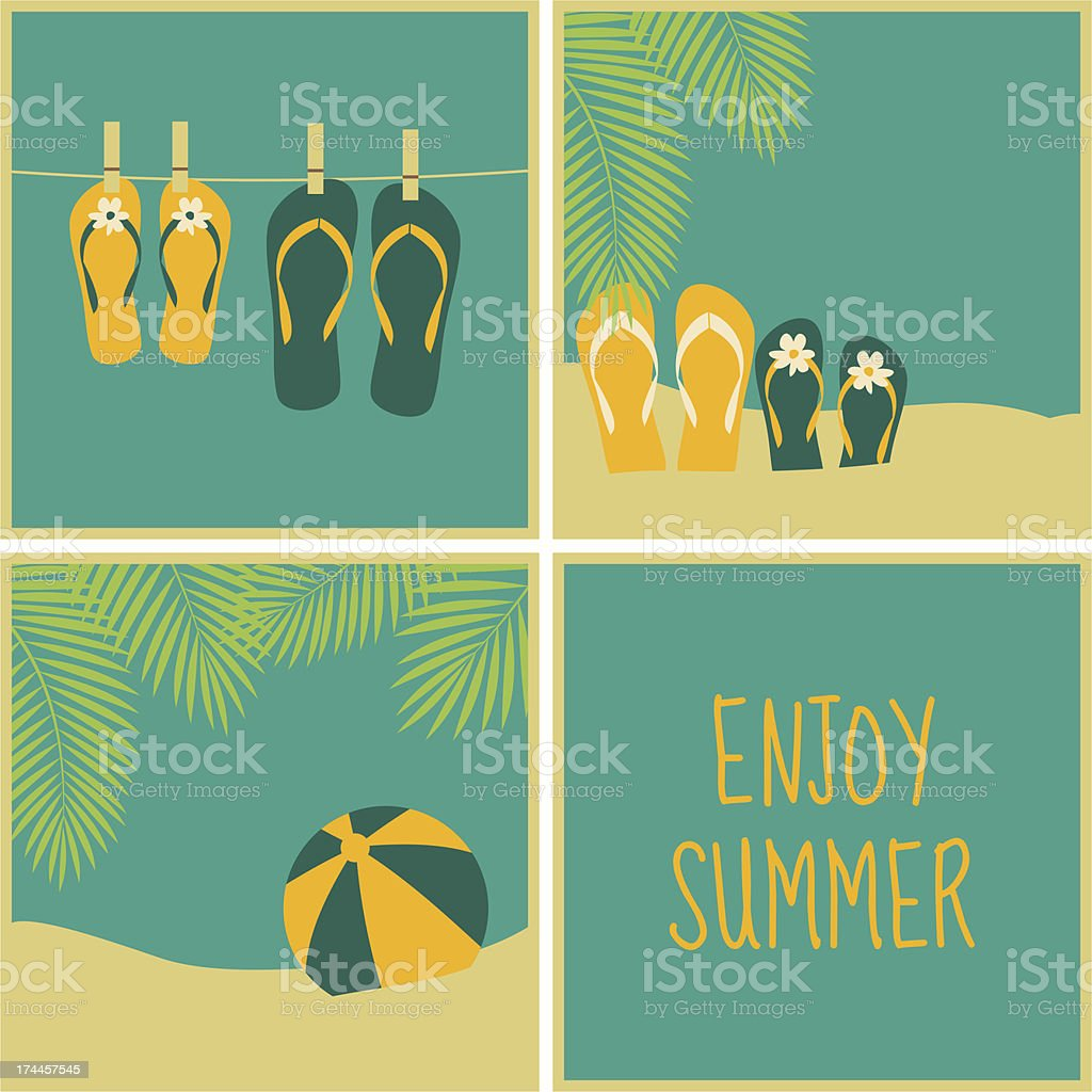 Summertime Cards Collection royalty-free stock vector art