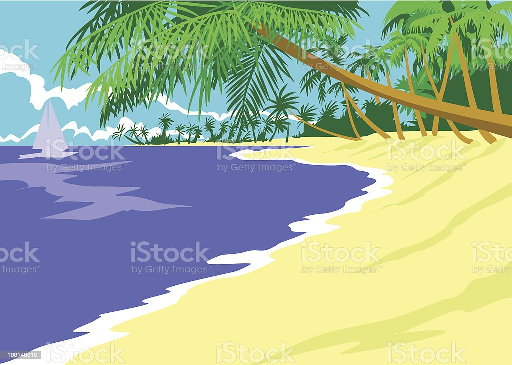 Summertime in the island royalty-free stock vector art
