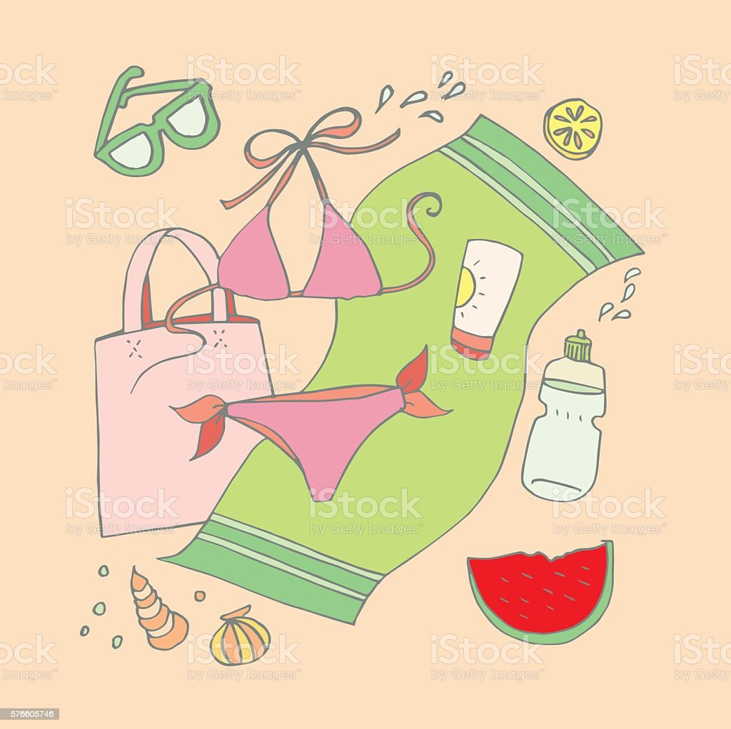 Summertime vector art illustration