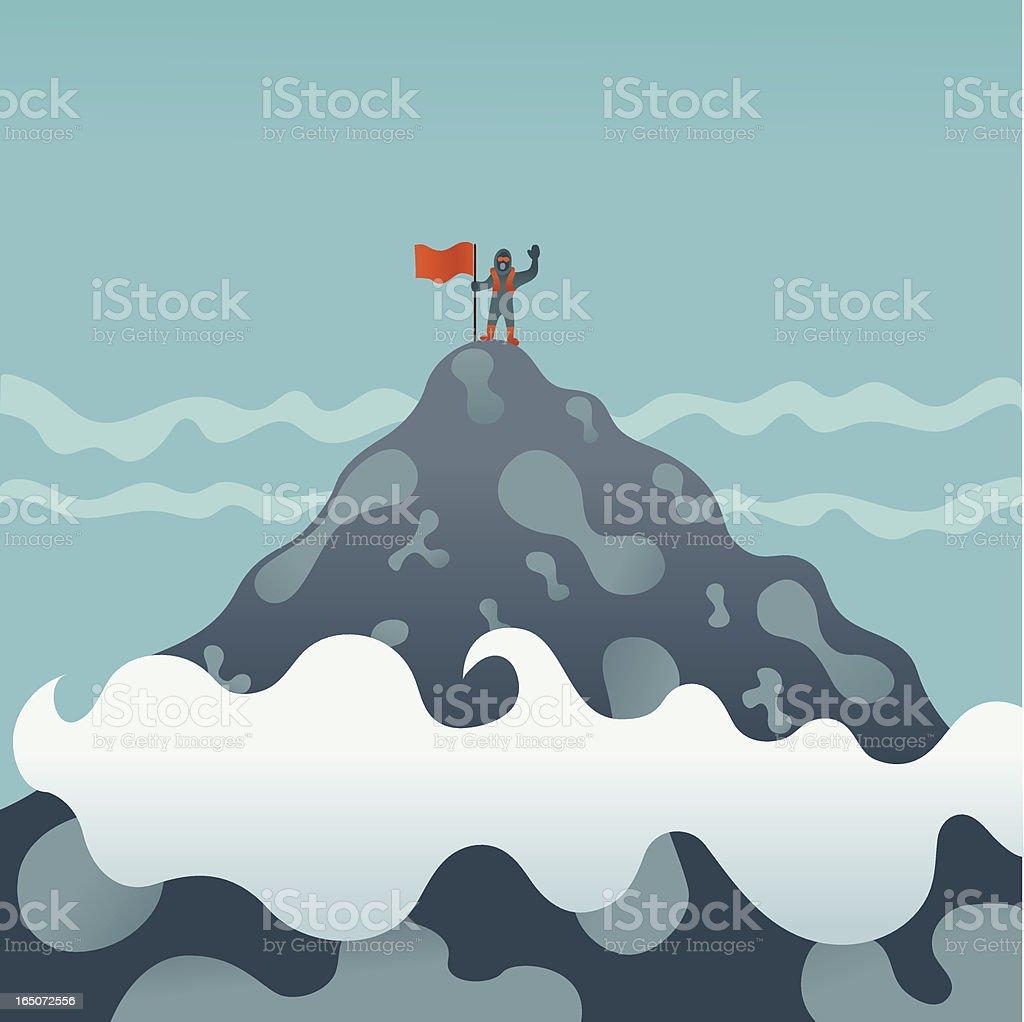 Summit Reached! vector art illustration