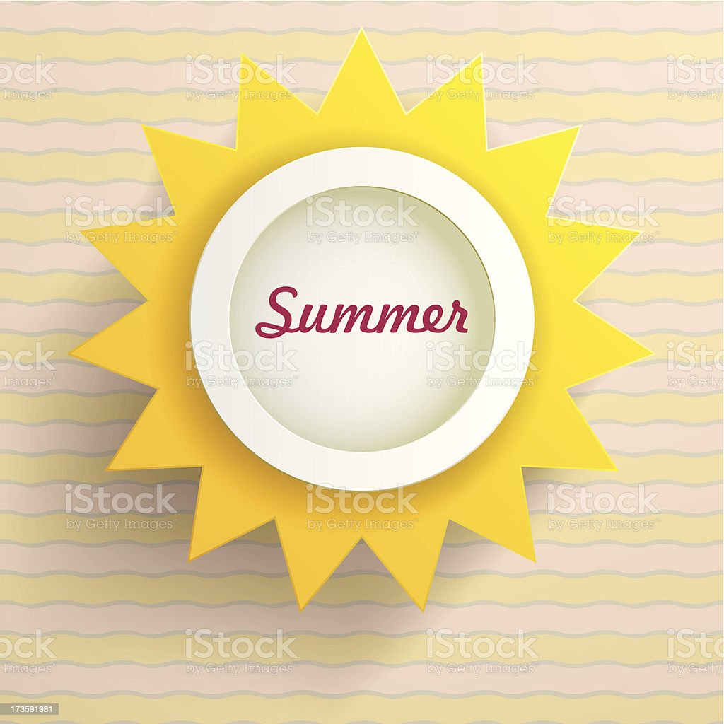 Sun. Abstract summer background. royalty-free stock vector art