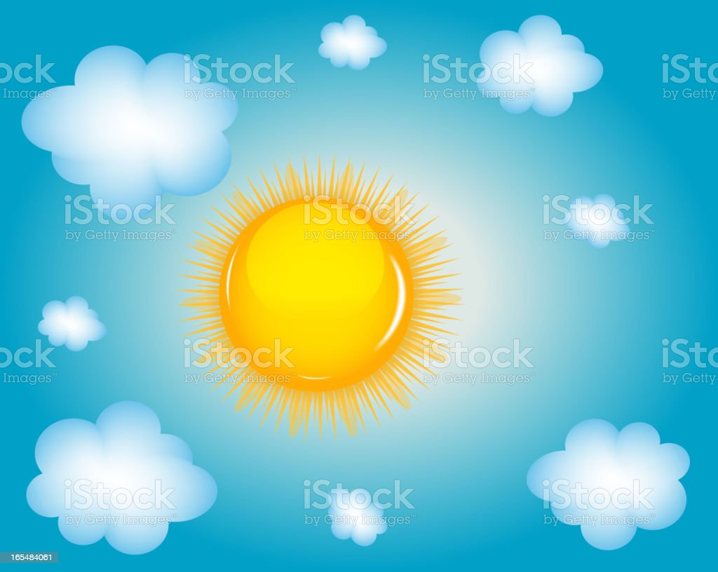 Sun and cloud background vector illustration royalty-free stock vector art