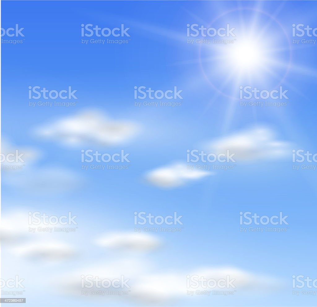 Sun and clouds royalty-free stock vector art