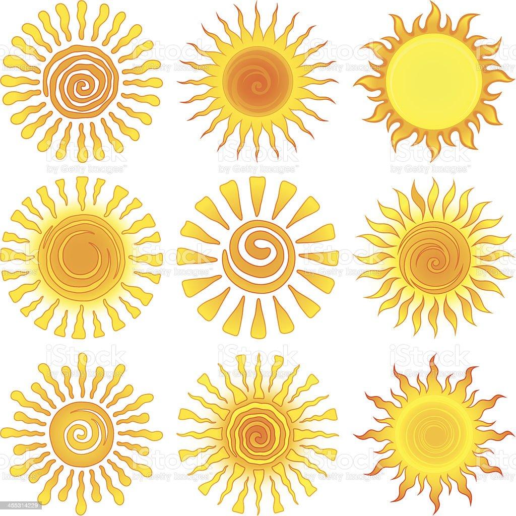 Sun designs royalty-free stock vector art