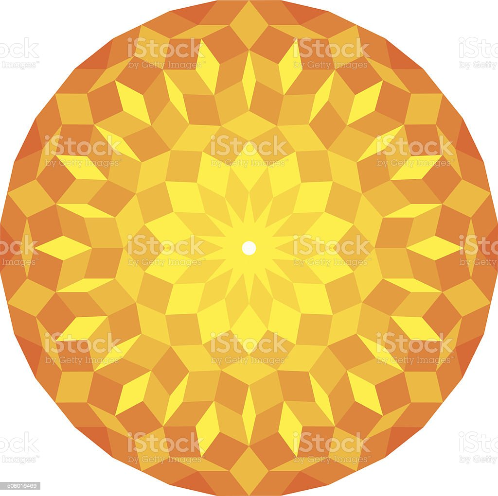 Sun From A Penrose Pattern vector art illustration