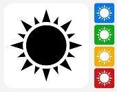 Sun Icon Flat Graphic Design