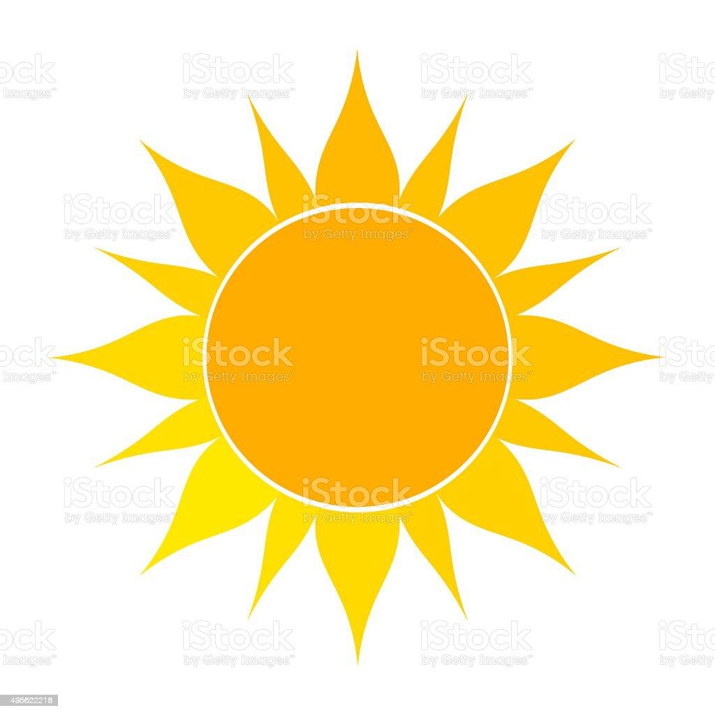 Sun icon illustration vector art illustration