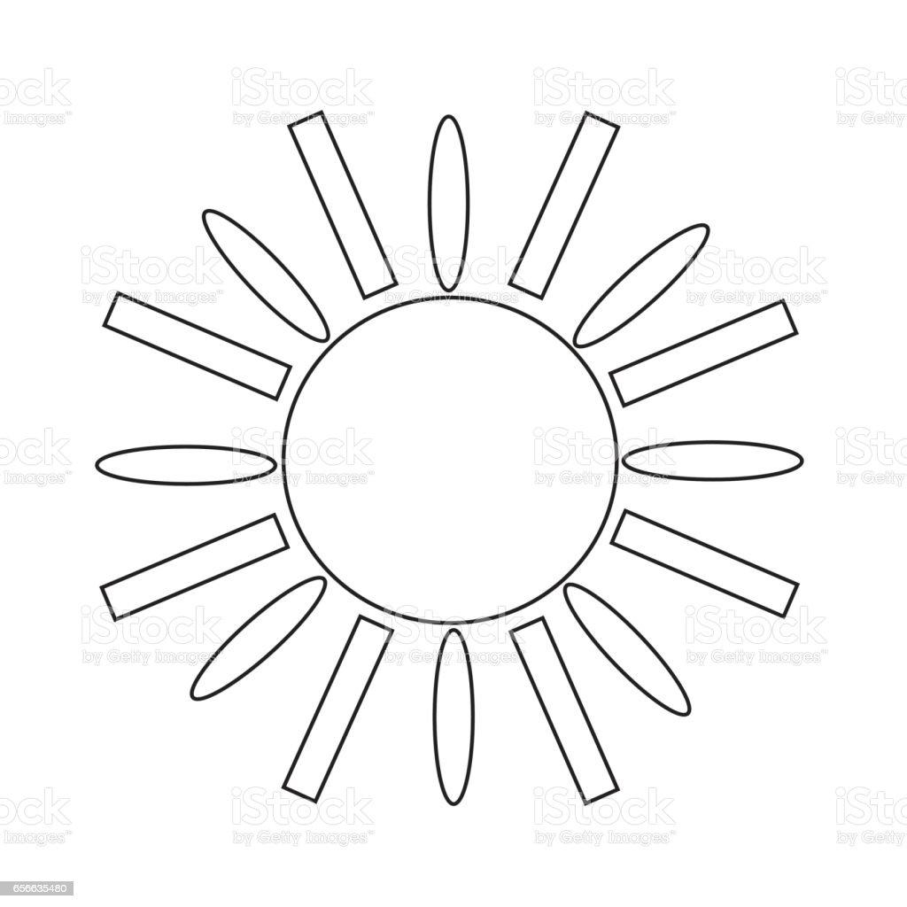 Sun Icon vector art illustration