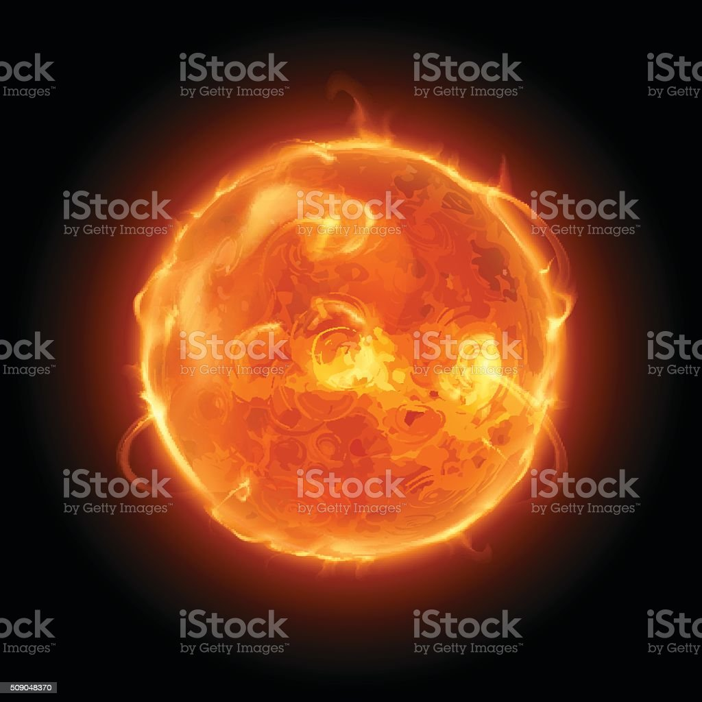 Sun illustration vector art illustration