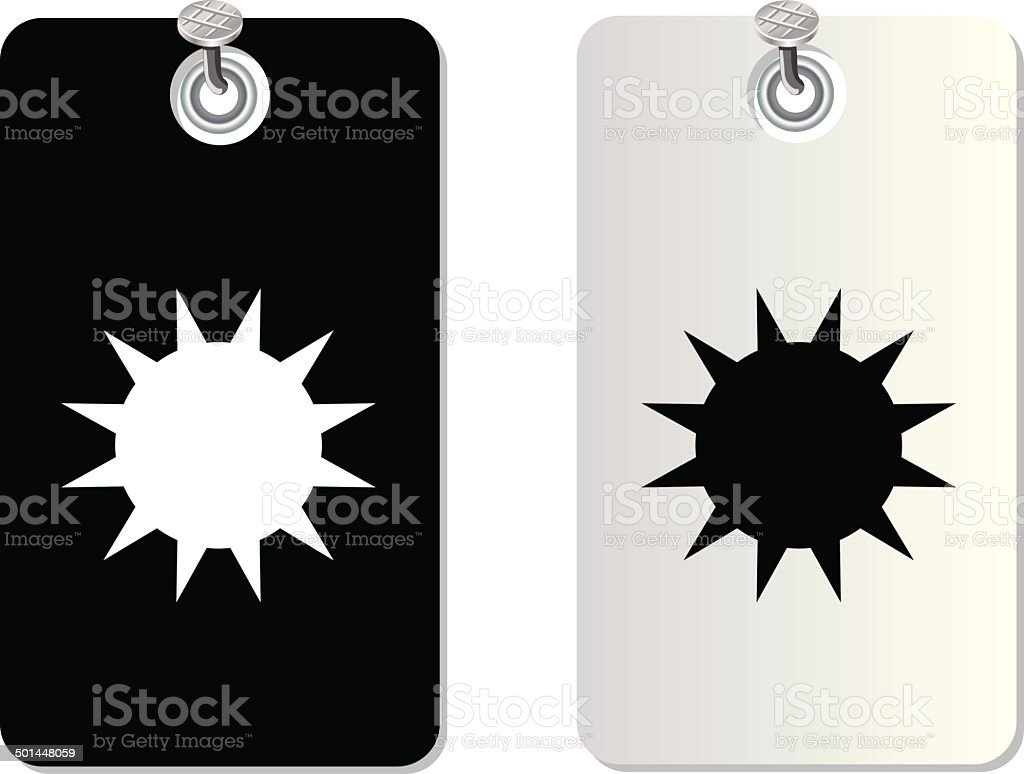 sun label tag vector art illustration