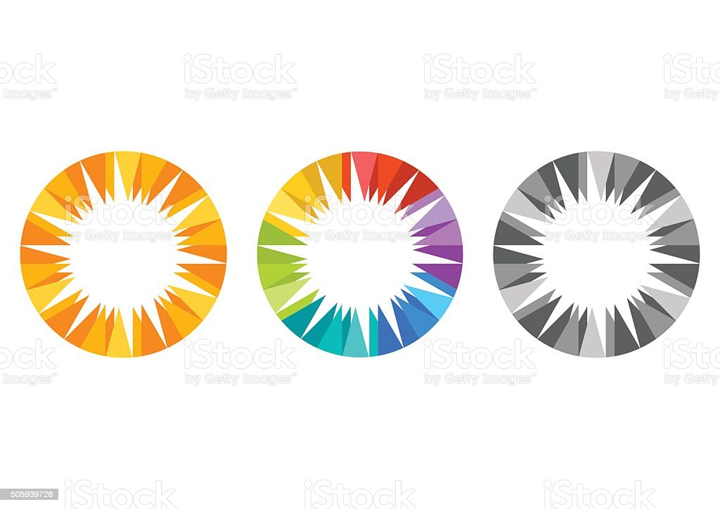 sun logo, solar energy symbol nature sunlight icon design vector vector art illustration